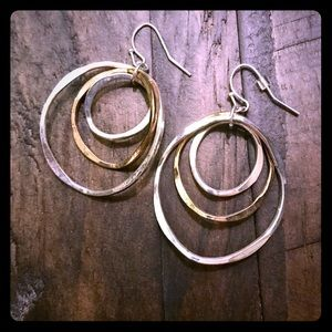 Express silver and gold earrings